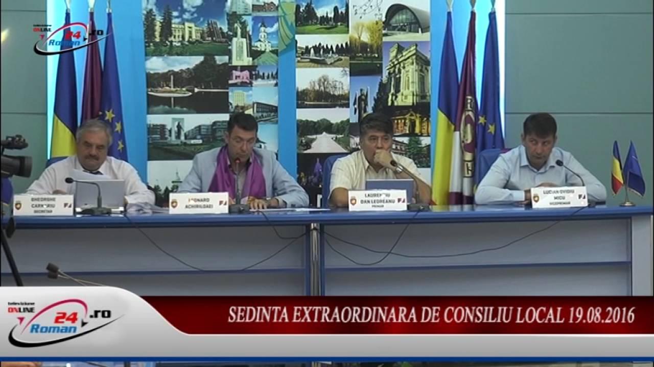 SEDINTA EXTRAORDINARA DE CONSILIU LOCAL 19.08.2016
