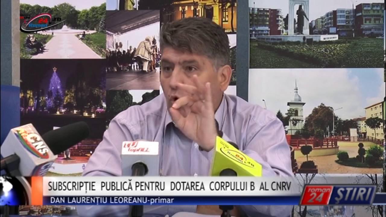 SUBSCRIPȚIE PUBLICĂ PENTRU DOTAREA CORPULUI B AL CNRV