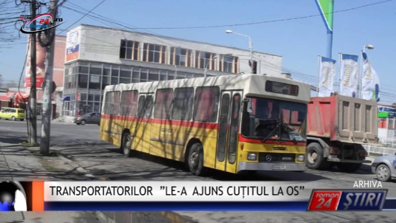 """TRANSPORTATORILOR """"LE-A AJUNS CUȚITUL LA OS"""""""