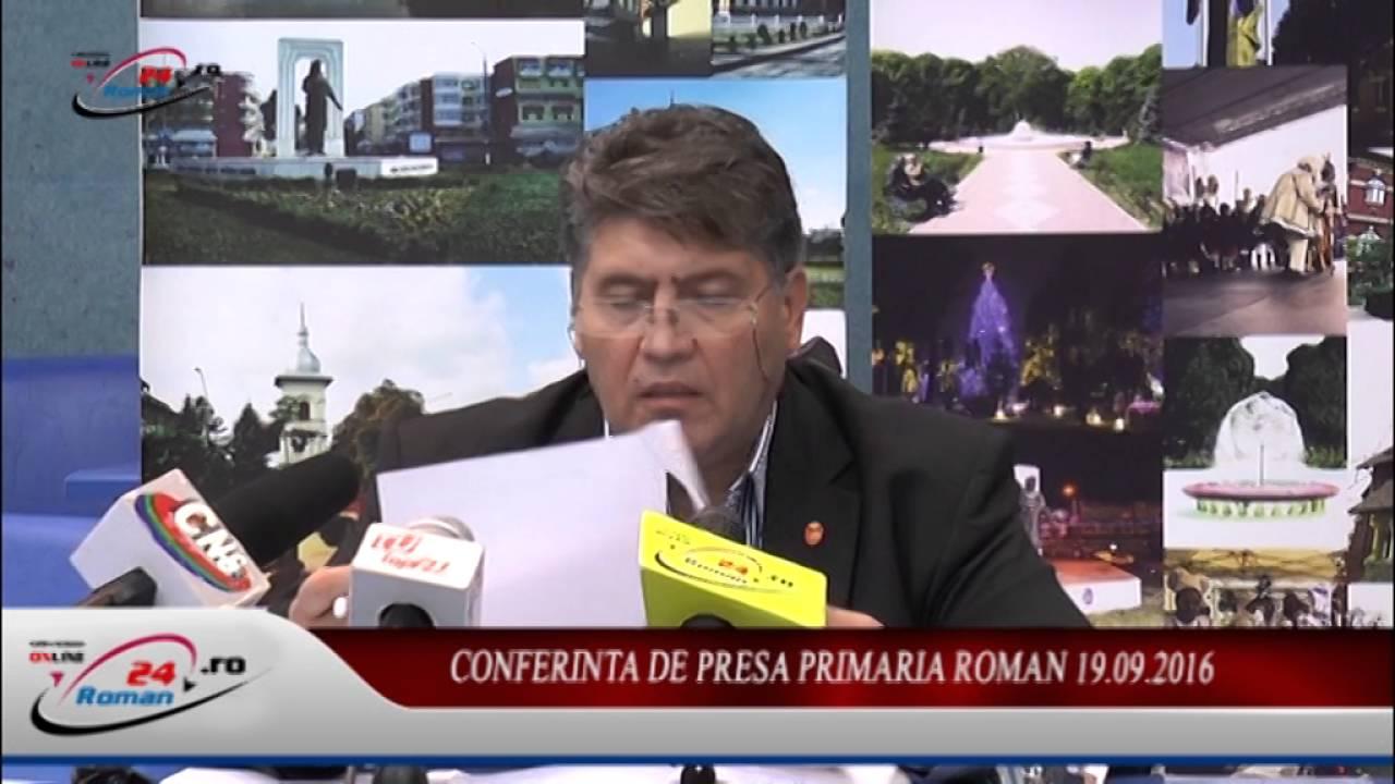 CONFERINTA DE PRESA PRIMARIA ROMAN 19.09.2016