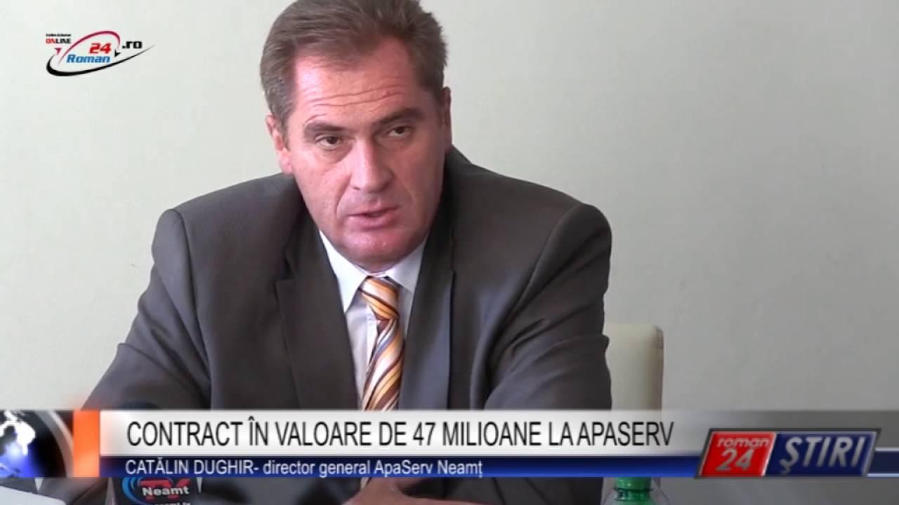 CONTRACT ÎN VALOARE DE 47 MILIOANE LA APASERV