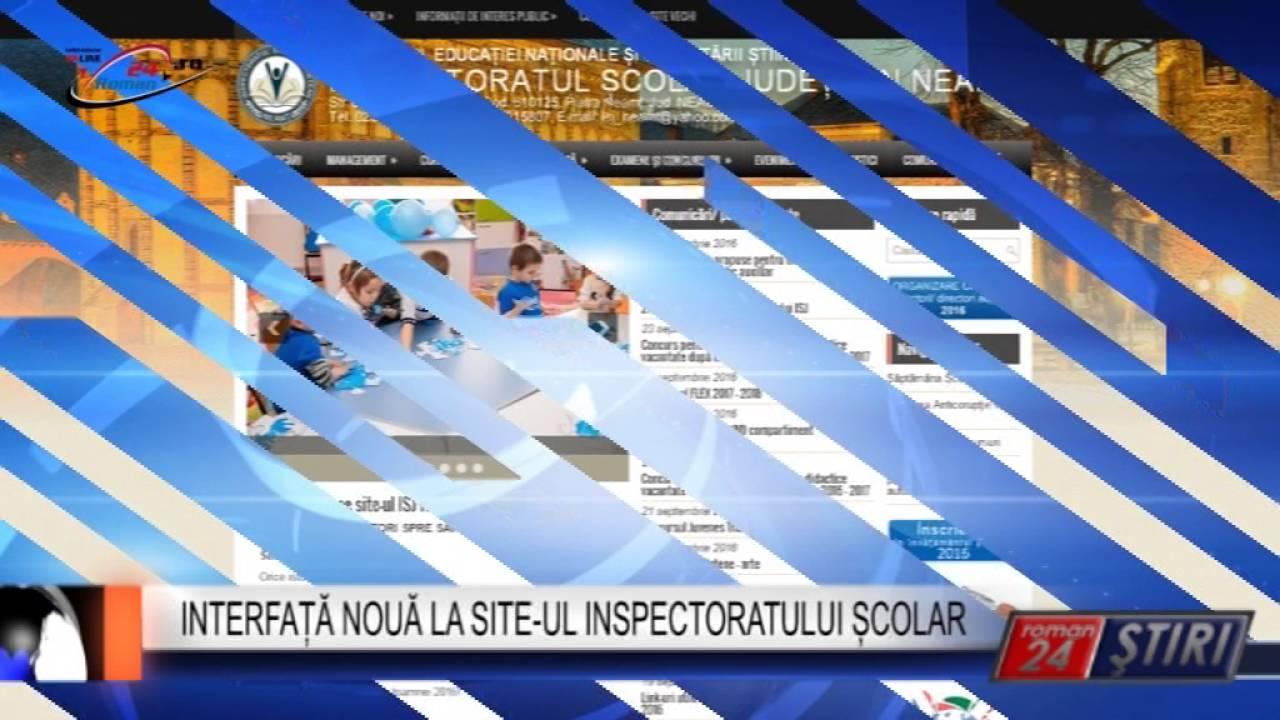 INTERFAȚĂ NOUĂ LA SITE-UL INSPECTORATULUI ȘCOLAR