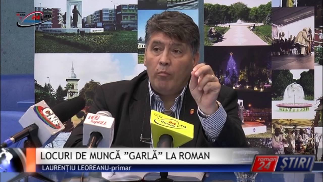 """LOCURI DE MUNCĂ """"GARLĂ"""" LA ROMAN"""