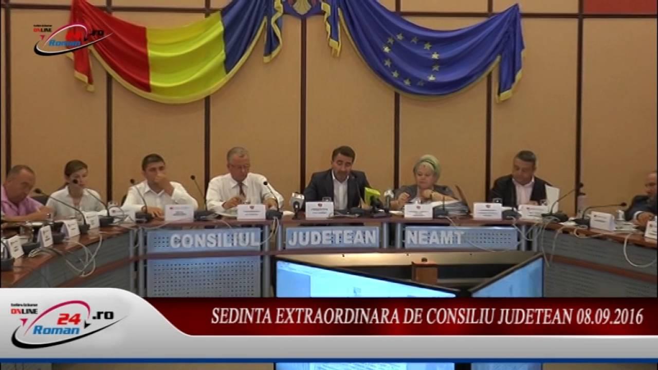 Sedinta Extraordinara de Consiliu Judetean 08.09.2016