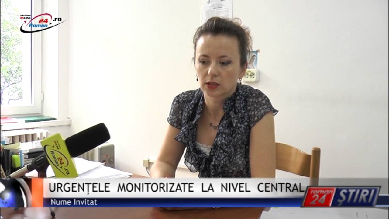 URGENȚELE MONITORIZATE LA NIVEL CENTRAL