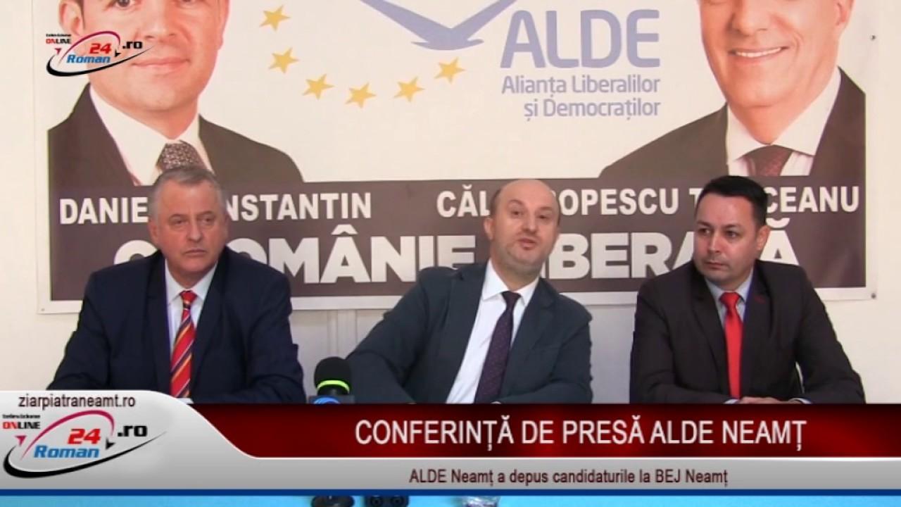 CONFERINTA DE PRESA ALDE NEAMT