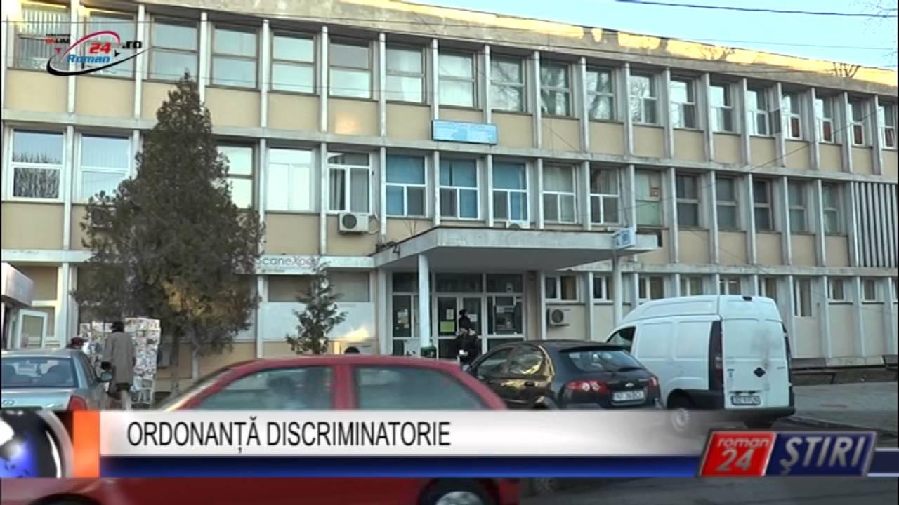 ORDONANȚĂ DISCRIMINATORIE