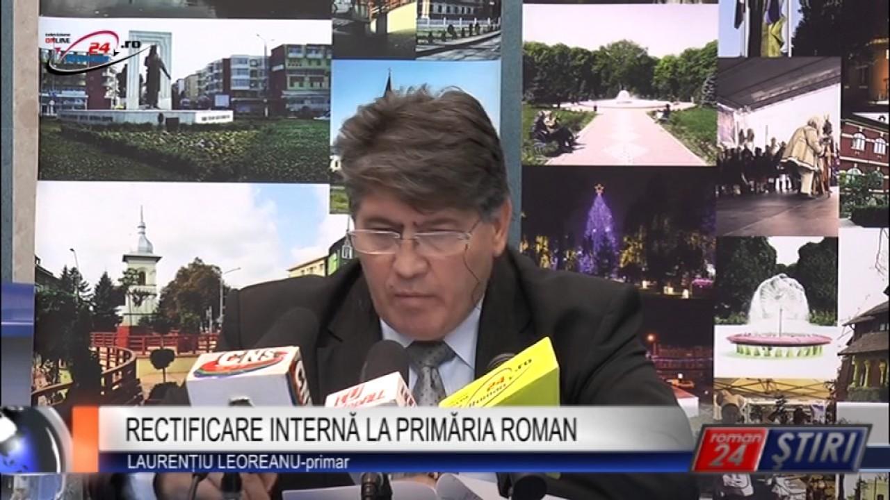 RECTIFICARE INTERNĂ LA PRIMĂRIA ROMAN