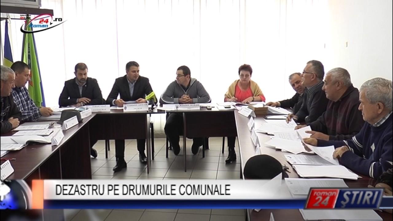 DEZASTRU PE DRUMURILE COMUNALE