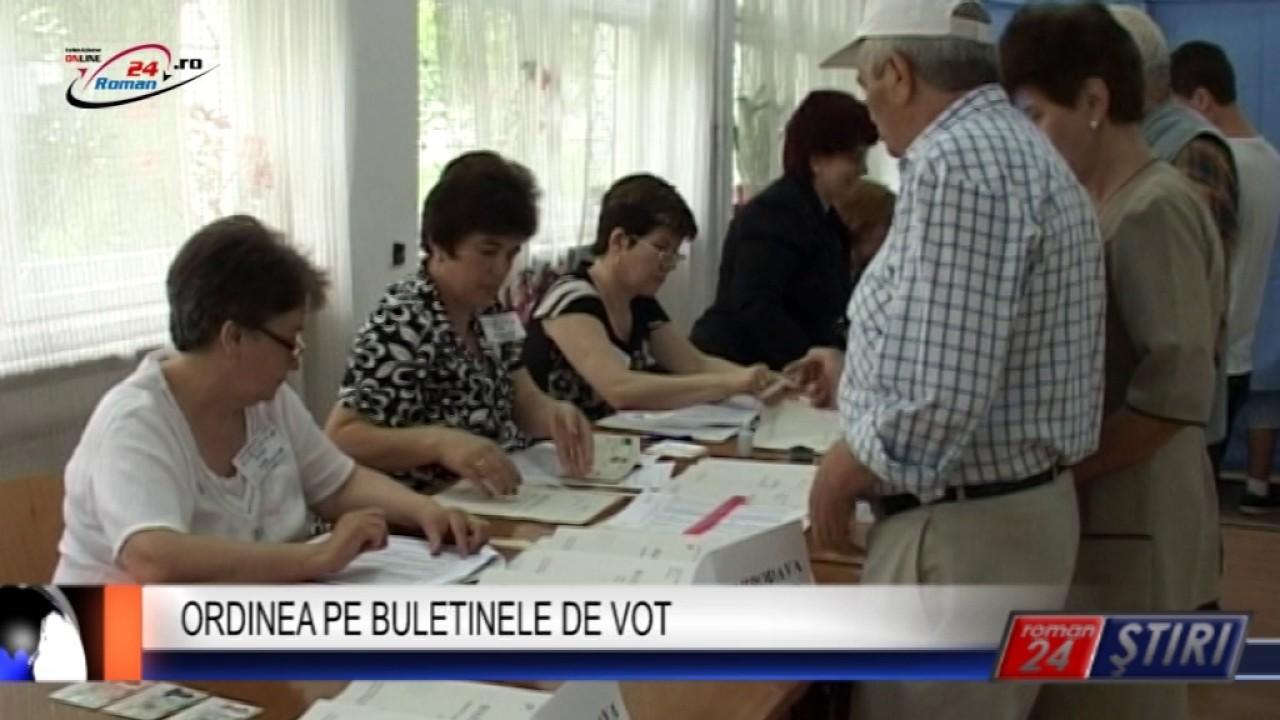 ORDINEA PE BULETINELE DE VOT