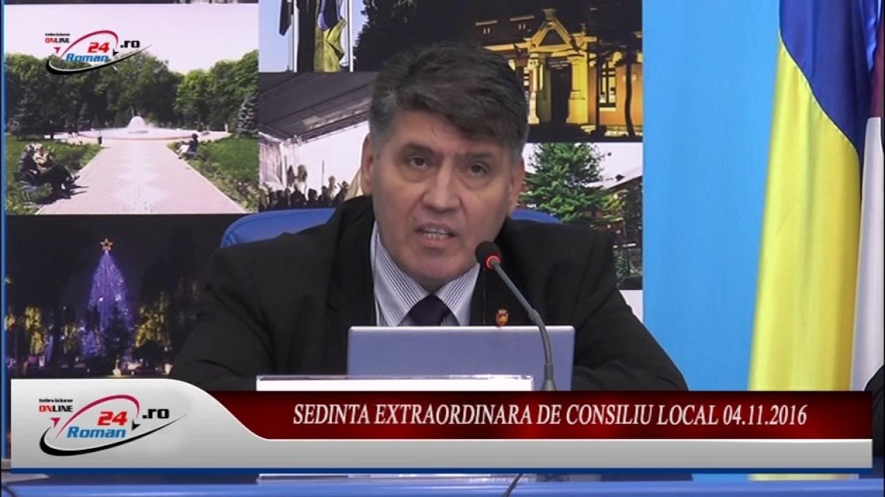 SEDINTA EXTRAORDINARA DE CONSILIU LOCAL 04.11.2016