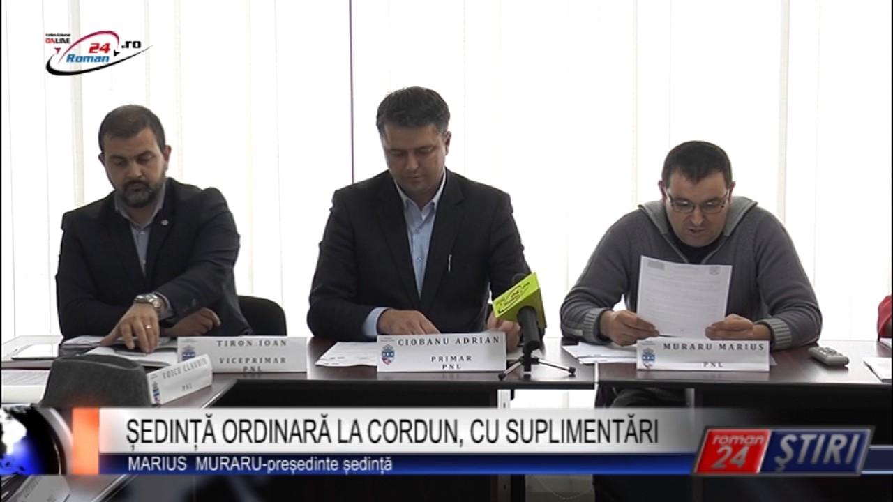 ȘEDINȚĂ ORDINARĂ LA CORDUN, CU SUPLIMENTĂRI