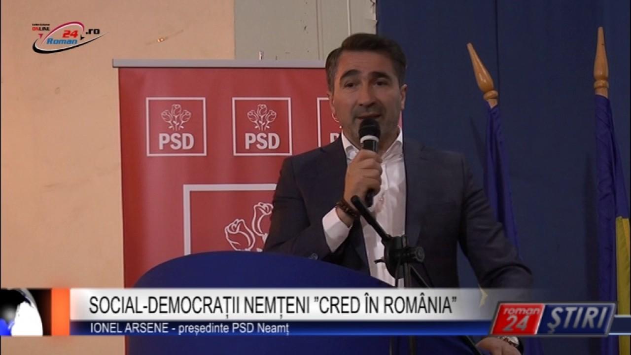"SOCIAL-DEMOCRAȚII NEMȚENI ""CRED ÎN ROMÂNIA"""