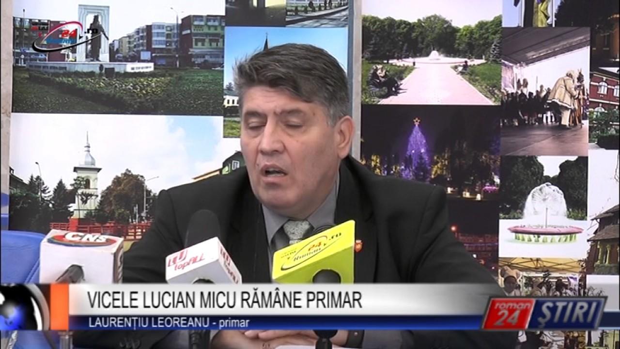 VICELE LUCIAN MICU RĂMÂNE PRIMAR