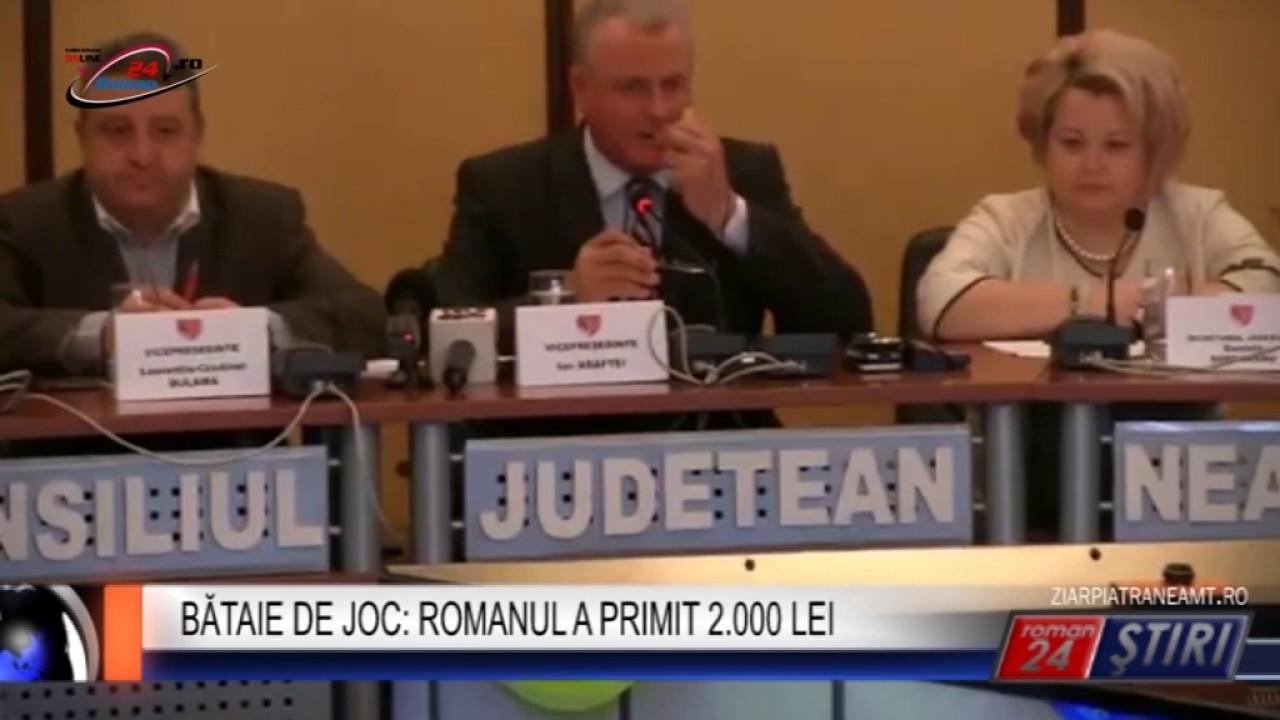 BĂTAIE DE JOC ROMANUL A PRIMIT 2.000 LEI