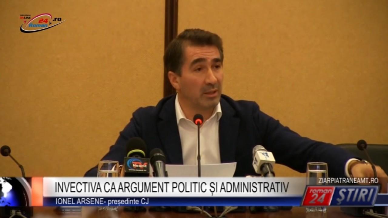 INVECTIVA CA ARGUMENT POLITIC ȘI ADMINISTRATIV