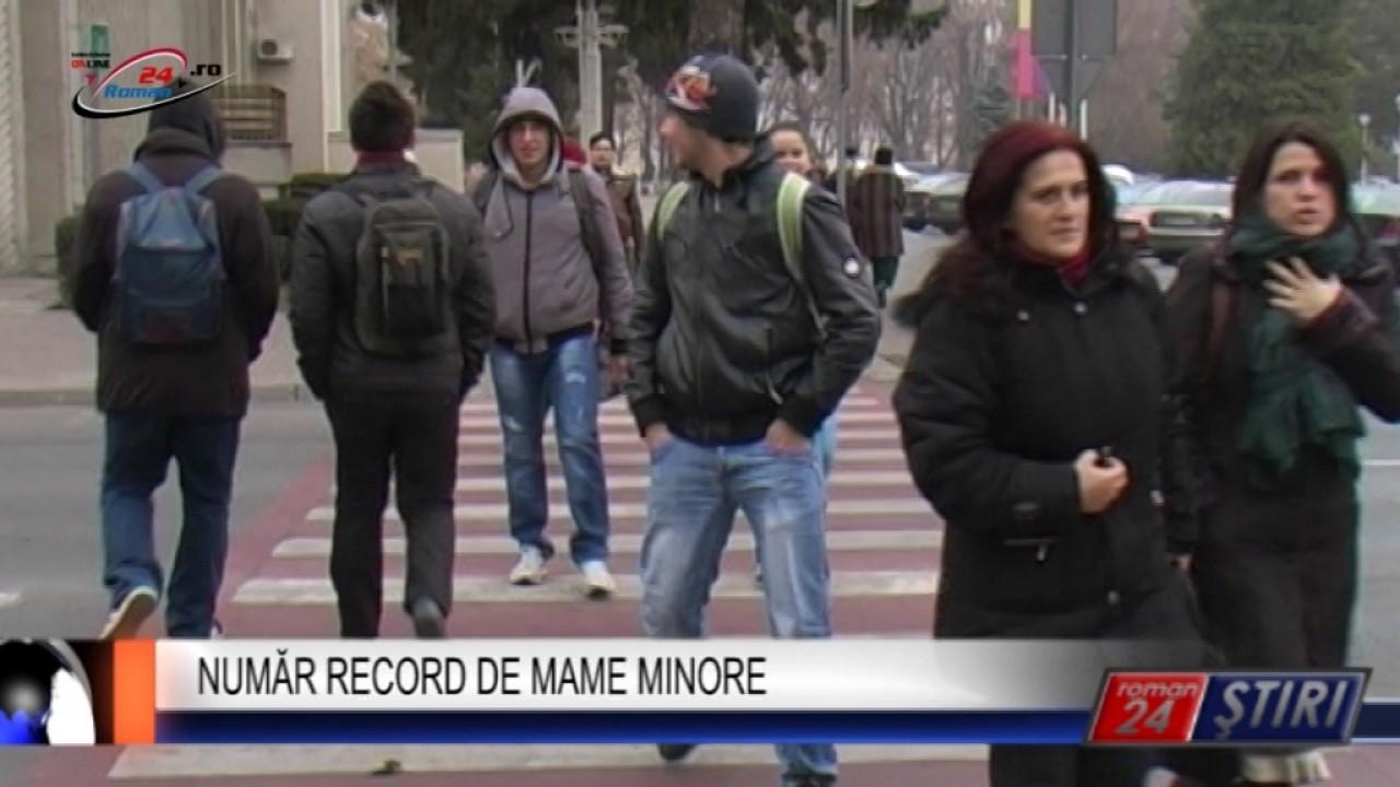 NUMĂR RECORD DE MAME MINORE