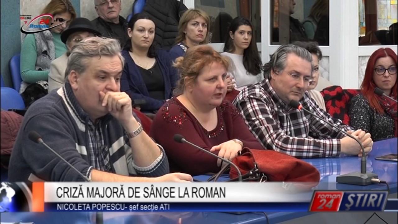 CRIZA MAJORA DE SANGE LA ROMAN