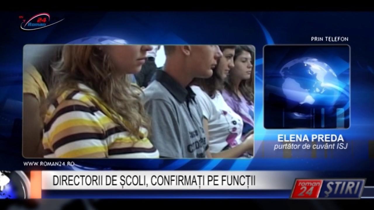 DIRECTORII DE ȘCOLI, CONFIRMAȚI PE FUNCȚII