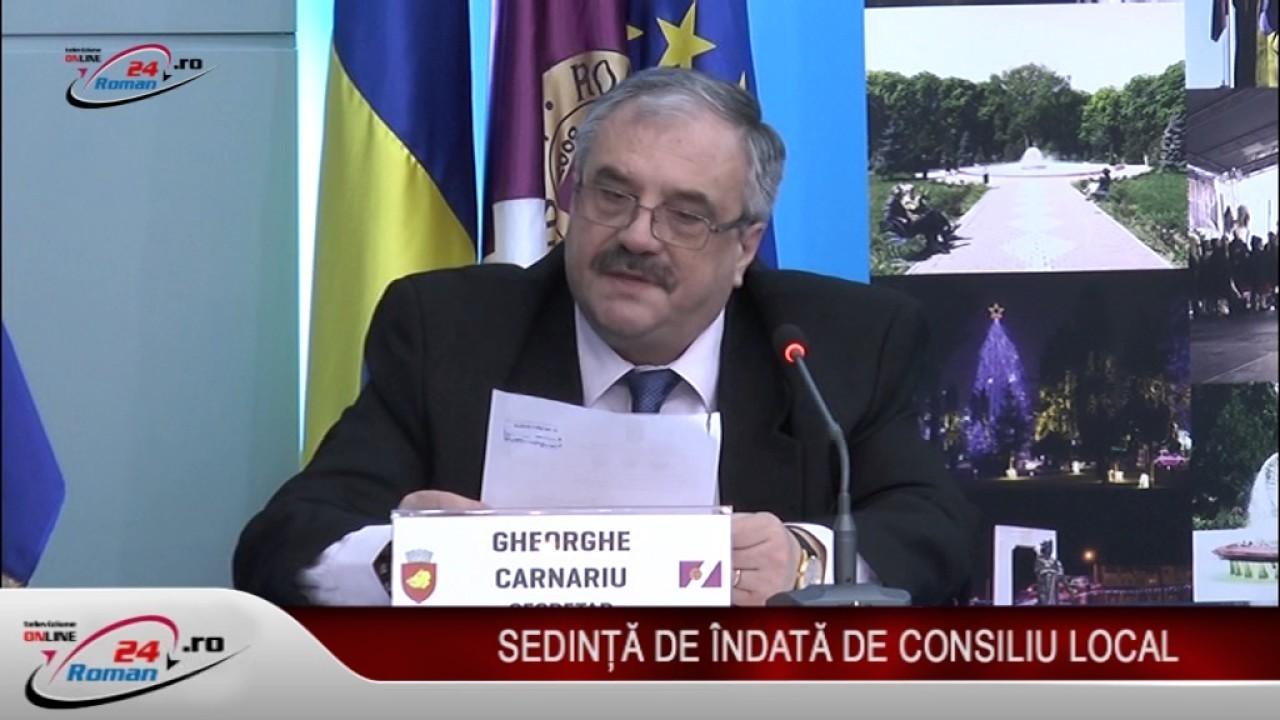 ȘEDINȚA DE ÎNDATĂ A CONSILIULUI LOCAL 05.01.2017