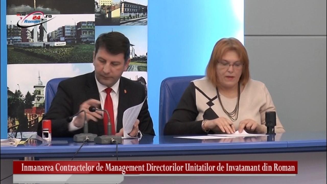 Inmanarea Contractelor de Management Directorilor Unitatilor de Invatamant din Roman