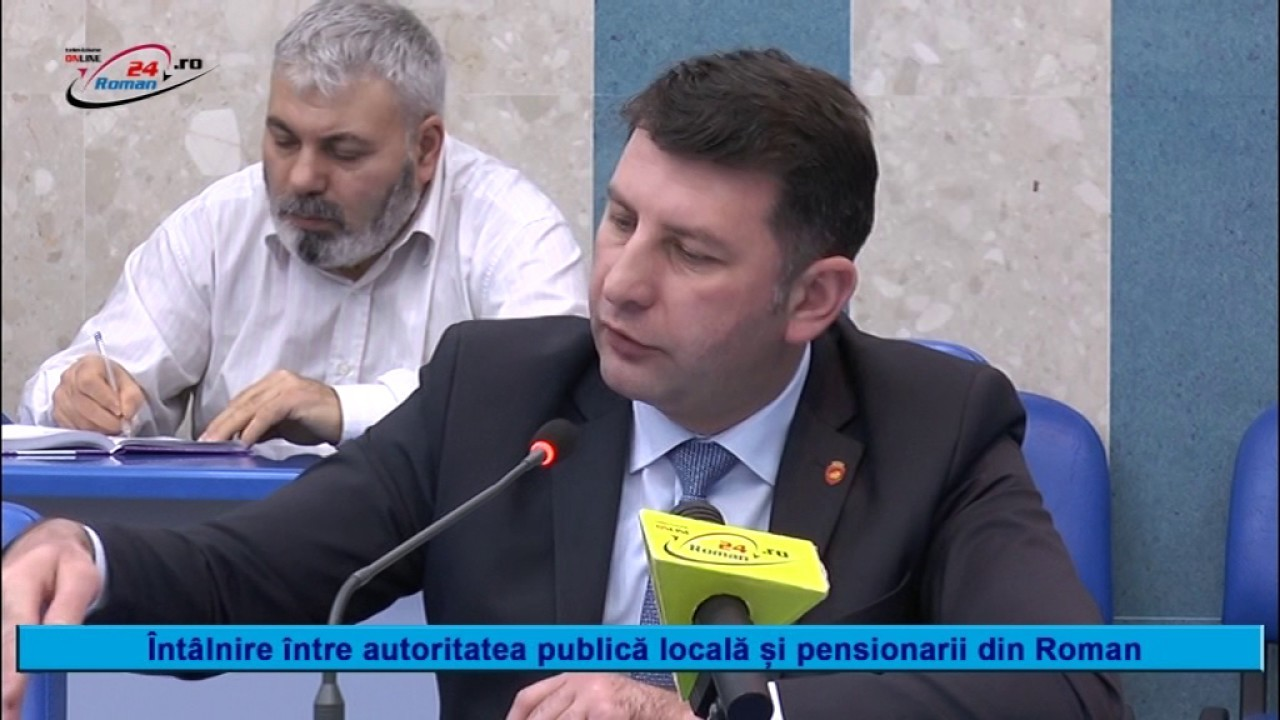 INTÂLNIRE ÎNTRE AUTORITĂȚILE PUBLICE ȘI PENSIONARII DIN ROMAN