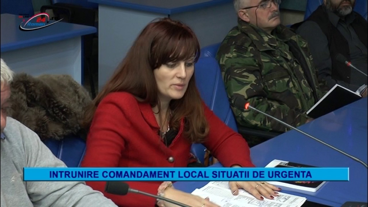 INTRUNIRE COMANDAMENT LOCAL SITUATII DE URGENTA