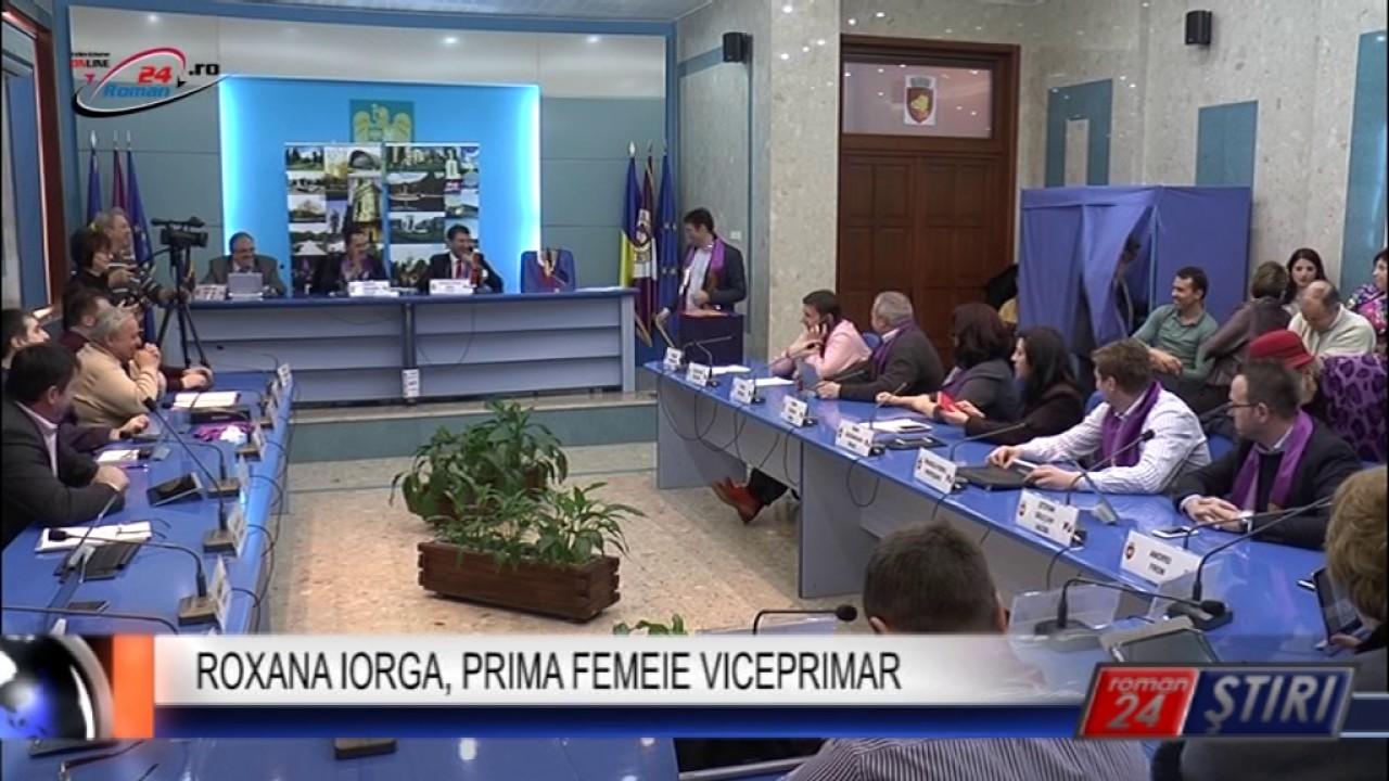 ROXANA IORGA, PRIMA FEMEIE VICEPRIMAR