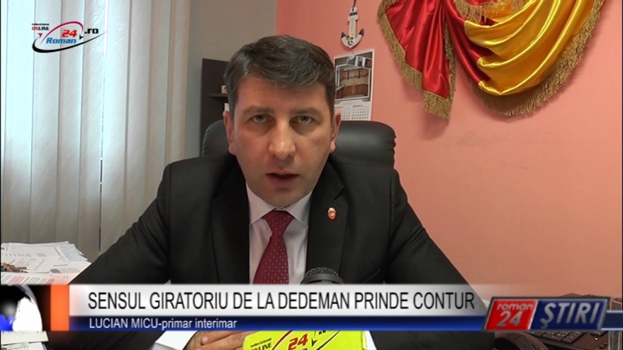 SENSUL GIRATORIU DE LA DEDEMAN PRINDE CONTUR