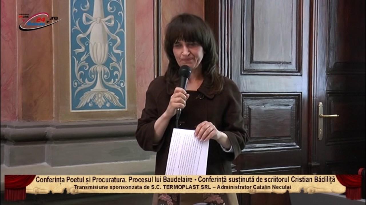 Conferința Poetul și Procuratura. Procesul lui Baudelaire