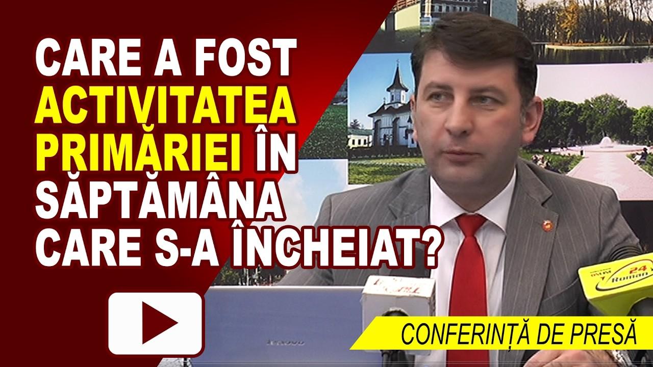 CONFERINȚĂ DE PRESĂ PRIMĂRIA ROMAN – 20.02.2017