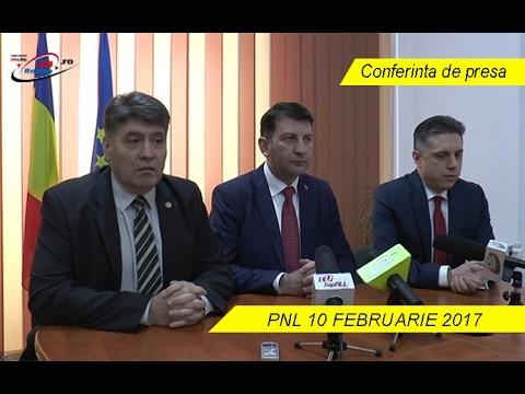 Conferinta de presa – PNL 10 FEBRUARIE 2017