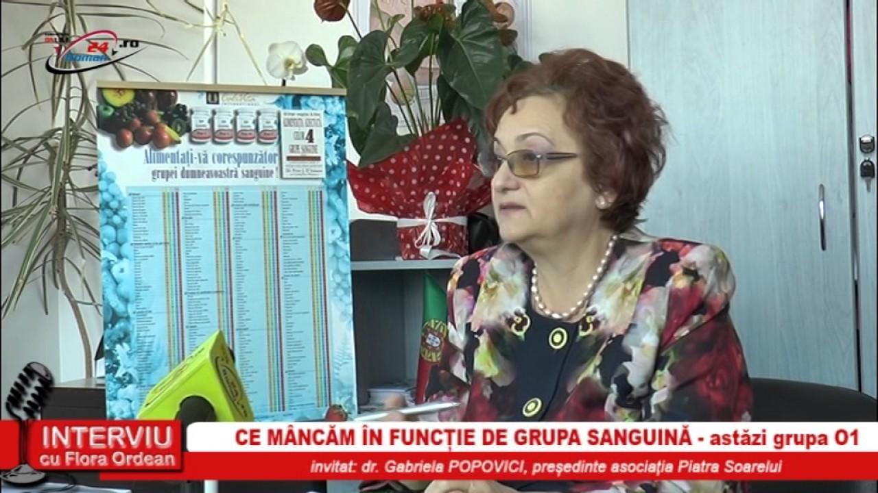 NTERVIU CU FLORA ORDEAN – CE MANCAM IN FUNCTIE DE GRUPA SANGUINA 01
