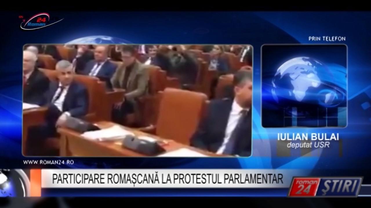PARTICIPARE ROMAȘCANĂ LA PROTESTUL PARLAMENTAR