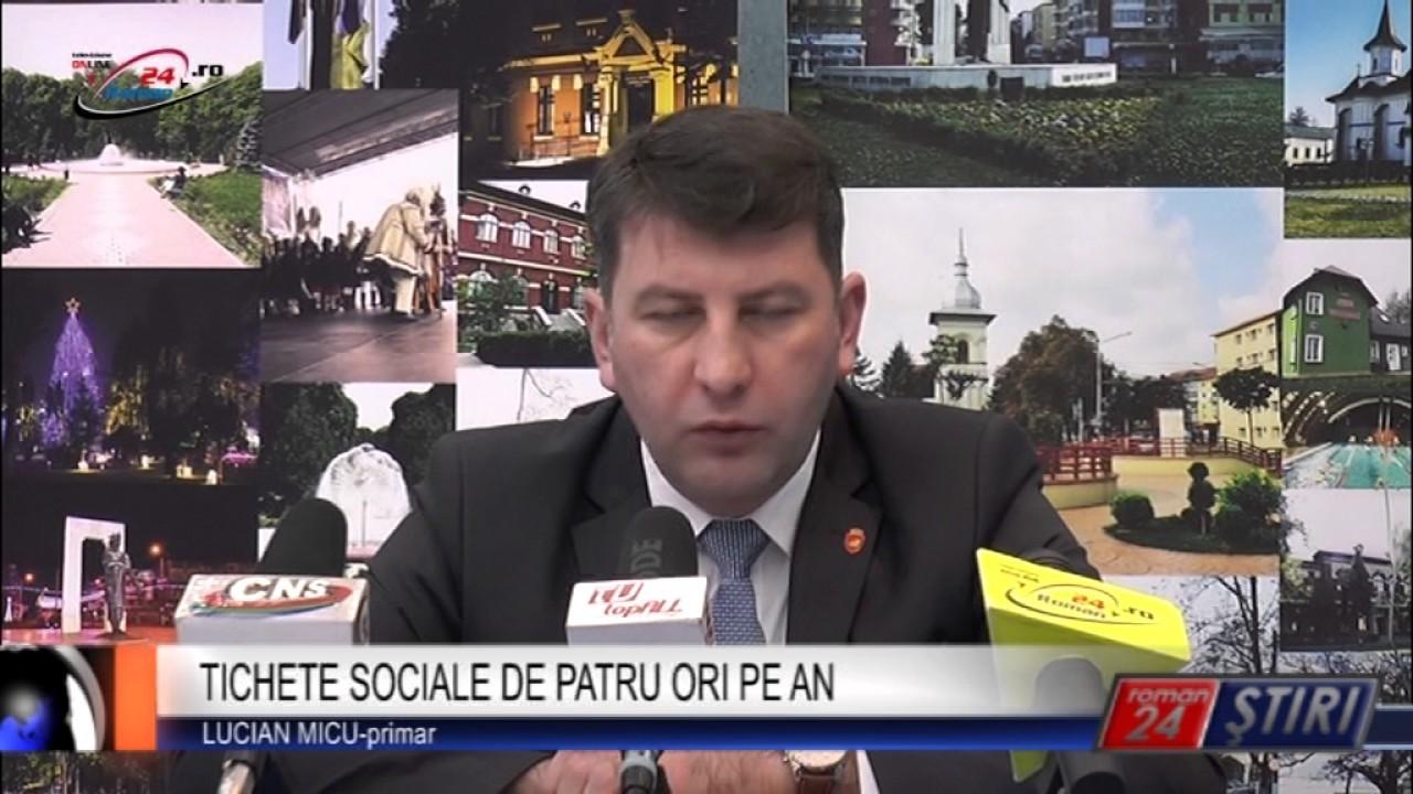 TICHETE SOCIALE DE PATRU ORI PE AN