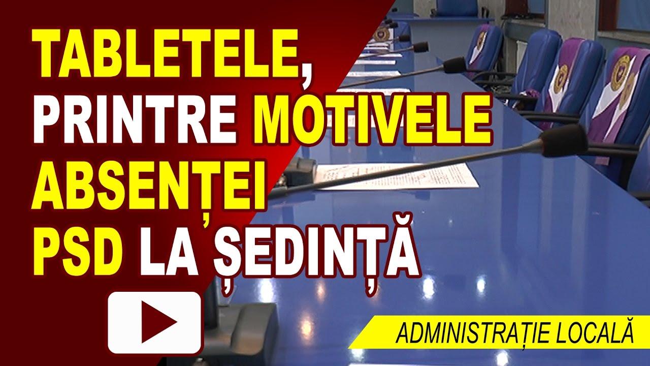 TABLETELE, MOTIV DE ABSENȚĂ