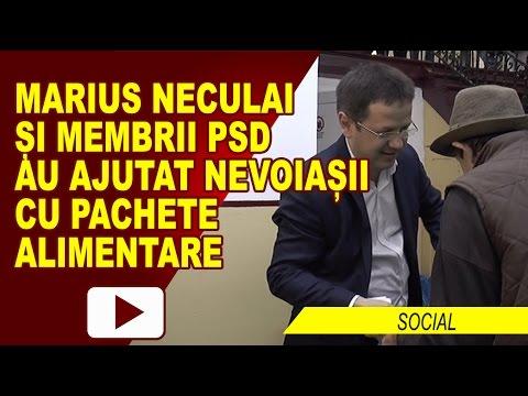 PACHETE PENTRU NEVOIAȘI, LA SEDIUL PSD ROMAN