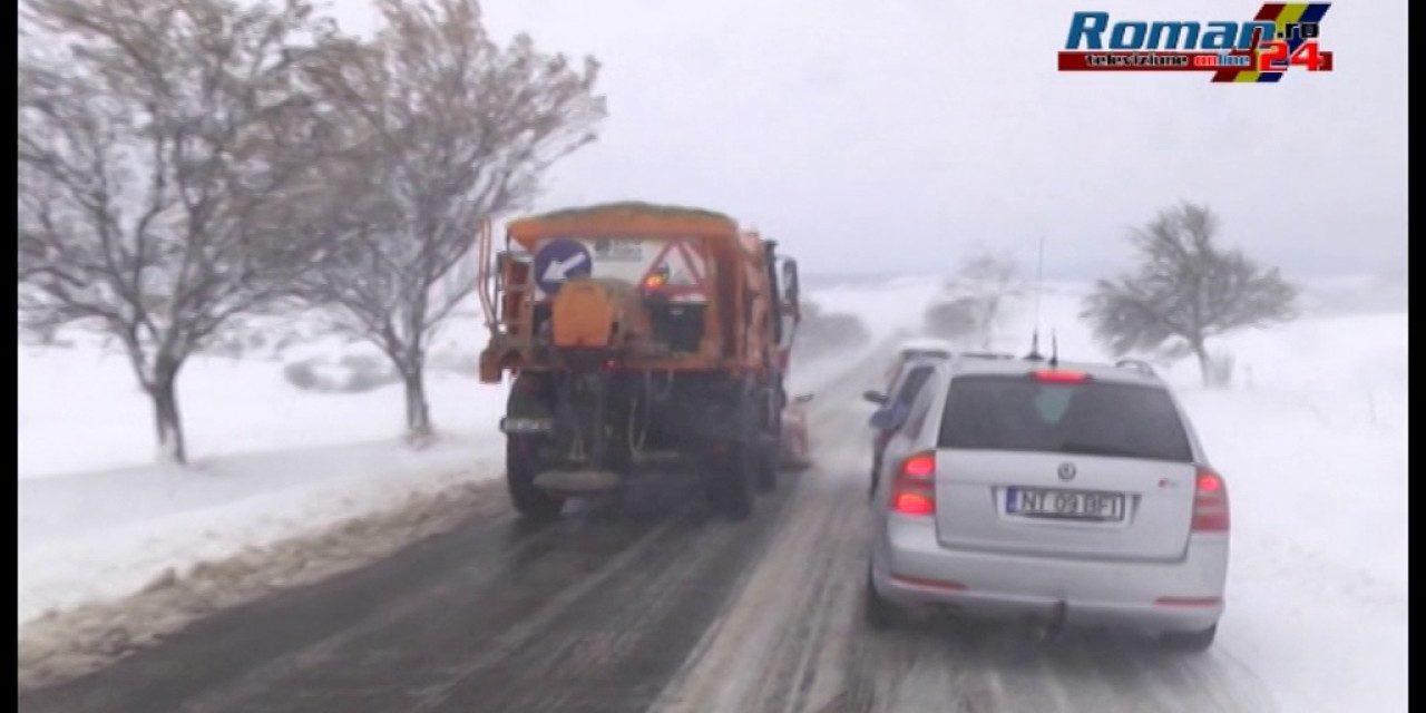 Situatie dramatica pe drumurile din Neamt