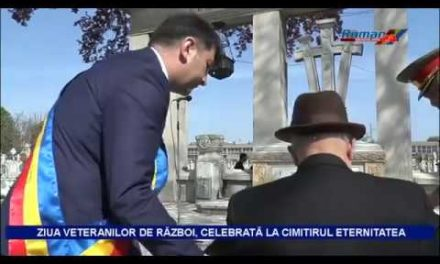 ZIUA VETERANILOR DE RĂZBOI, CELEBRATĂ LA CIMITIRUL ETERNITATEA