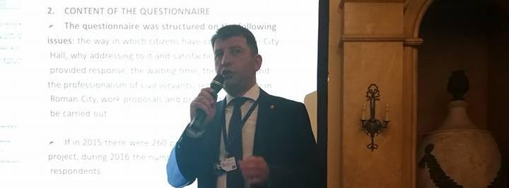 """Primarul Lucian Micu a prezentat proiectul """"Romascanii decid!"""" în cadrul Conferinței Europene a Calităţii"""