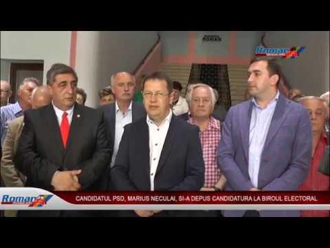 CANDIDATUL PSD MARIUS NECULAI SI-A DEPUS CANDIDATURA LA BIROUL ELECTORAL