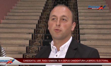 CANDIDATUL USR RADU SAMSON SI-A DEPUS CANDIDATURA LA BIROUL ELECTORAL