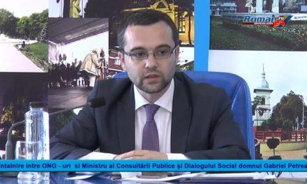 Intalnire intre ONG si Ministru al Consultării Publice şi Dialogului Social domnul Gabriel Petrea