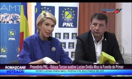 Presedinta PNL – Raluca Turcan sustine Lucian Ovidiu Micu la Functia de Primar