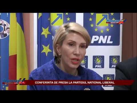 Raluca Turcan in conferinta de presa la PNL Roman