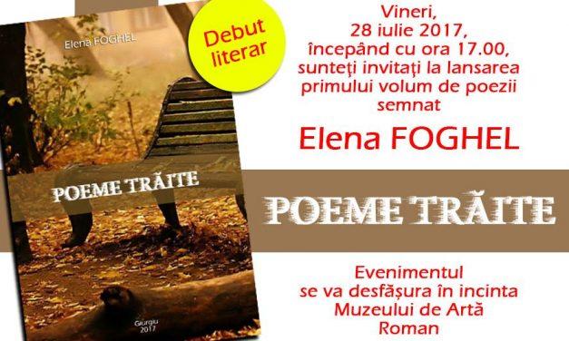 DEBUT LITERAR: ELENA FOGHEL