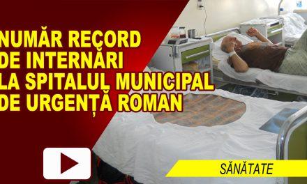 NUMĂR RECORD DE PACIENȚI INTERNAȚI ÎN SPITAL