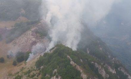 Parcul naţional Domogled, Mehedinţi, în flăcări