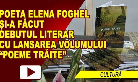 LANSARE DE CARTE DEBUT LITERAR ELENA FOGHEL