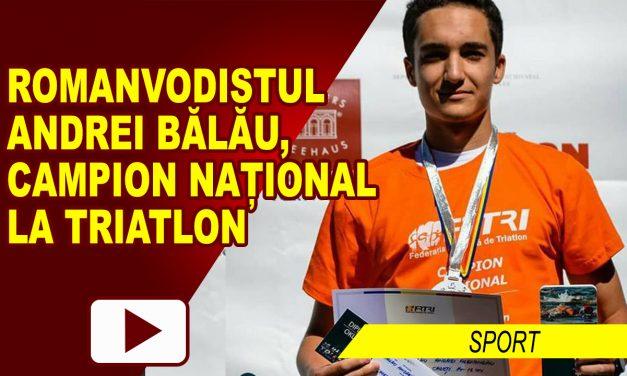 ROMANVODISTUL ANDREI ALEXANDRU BĂLĂU, CAMPION NAȚIONAL LA TRIATLON